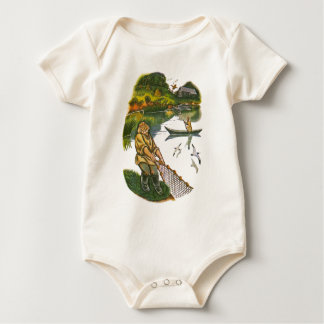 Scenes from Aesop's fables Baby Bodysuit