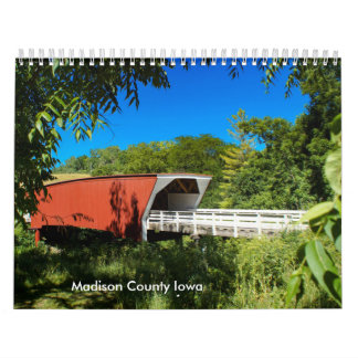 Scenes from Madison County Iowa Wall Calendars