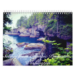 Scenes from Olympic Peninsula, WA 12 mo. calendar