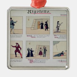 Scenes from the Opera 'Rigoletto' Metal Ornament
