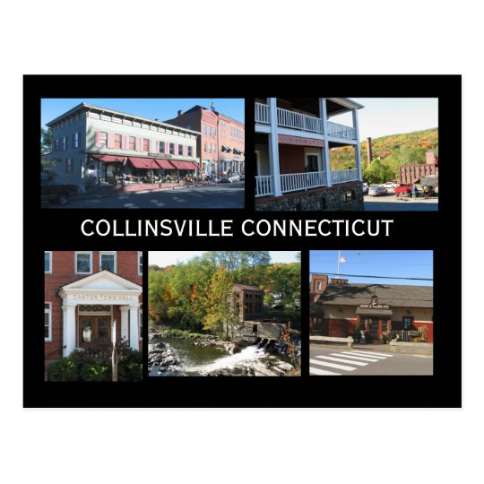 Scenes of Collinsville Connecticut Postcard