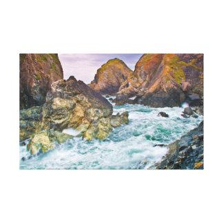 Scenes of Cornwall Rugged Cornish Rocks Canvas Print