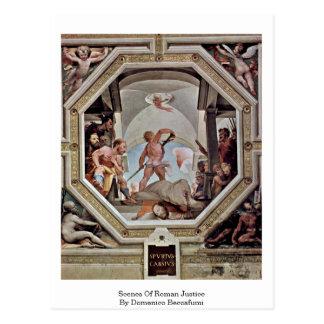 Scenes Of Roman Justice By Domenico Beccafumi Postcard