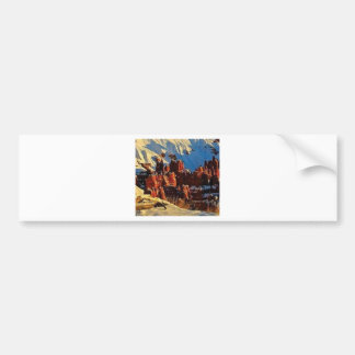 scenes of the snowy red rock bumper sticker