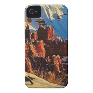 scenes of the snowy red rock iPhone 4 case