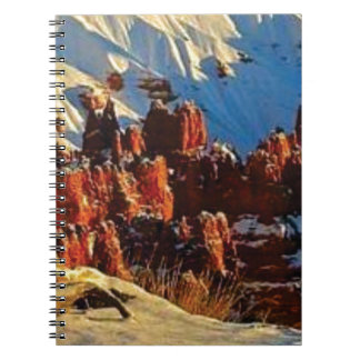 scenes of the snowy red rock notebook