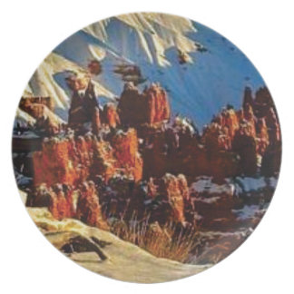 scenes of the snowy red rock plate