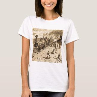 Scenes on the Union Pacific Railroad Sepia T-Shirt