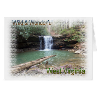 Scenic Appalachian Waterfall Card