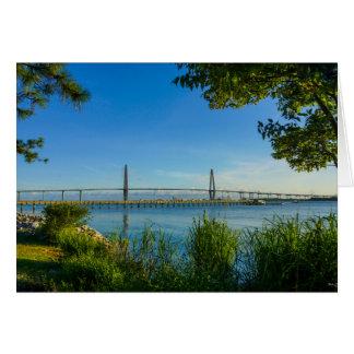 Scenic Arthur Ravenel Bridge Note Card