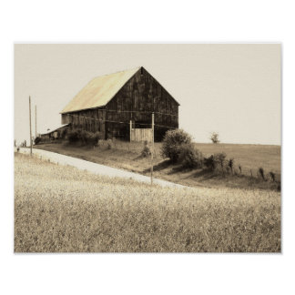 scenic barn image poster