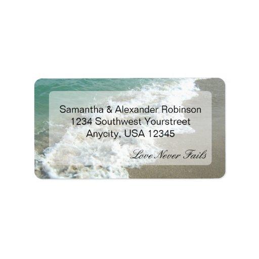 Scenic Beach Destination Wedding Custom Address Label