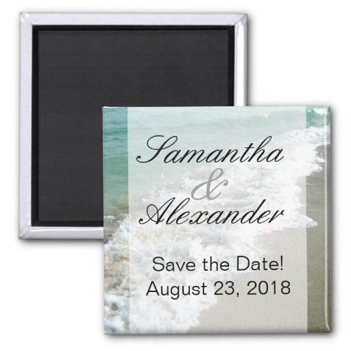 Scenic Beach Destination Wedding Save the Date Refrigerator Magnet