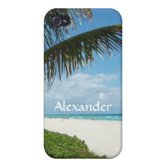 Scenic Beach, Side Palm Branch iPhone 4/4S Cover