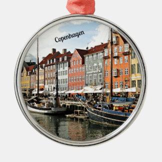 Scenic Canal in Copenhagen Metal Ornament