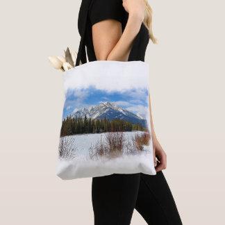 Scenic Cascade Mountain - Banff Alberta Tote Bag