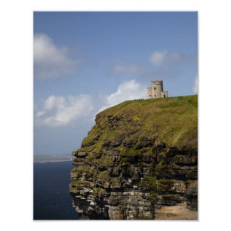 Scenic Cliffs of Moher and O'Brien's Tower. Poster