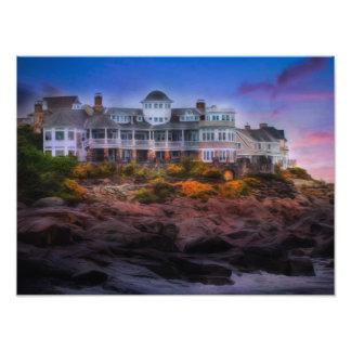Scenic Coastal Sunrise Cape Neddick Maine Photo Art
