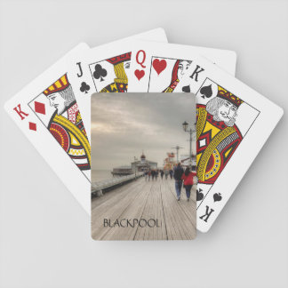 Scenic Coastal View Blackpool Pier UK Playing Cards