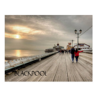 Scenic Coastal View Blackpool Pier UK Postcard
