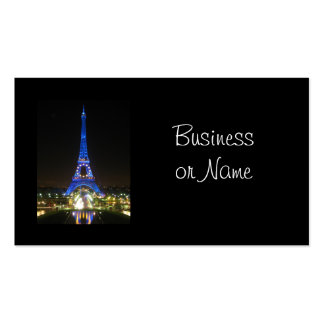 Scenic Eiffel Tower at Night Pack Of Standard Business Cards