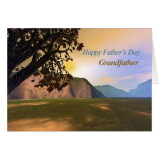 Scenic Fathers Day for Grandfather Card
