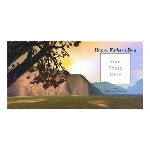 Scenic Father's Day Personalized Photo Card
