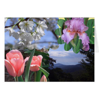 Scenic Floral Collage Card