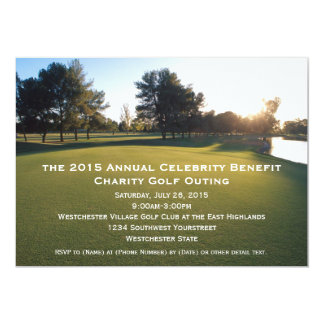 """Scenic Golf Outing Invitations 5"""" X 7"""" Invitation Card"""