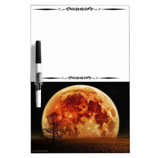 Scenic Harvest Moon Decorative Dry Erase Board