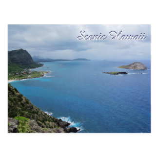 Scenic Hawaii Makapuu Oahu Island Mountains Ocean Postcard