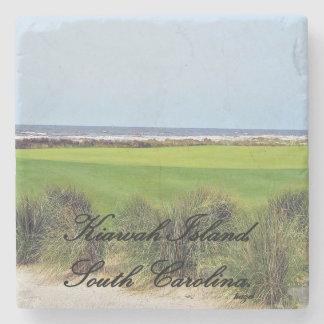 Scenic Kiawah Island, South Carolina Marble Stone Stone Coaster