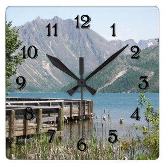 Scenic Lake Photo Square Wall Clock