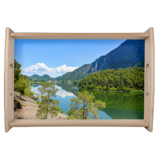 Scenic Lake Serving Tray