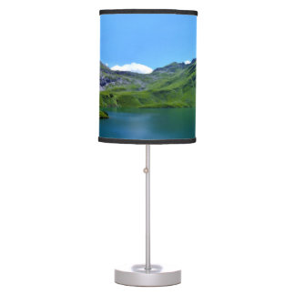 Scenic lake view lamp