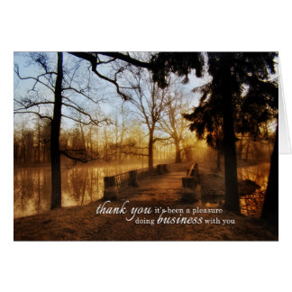 Scenic Landscape Business Thank You Greeting Card