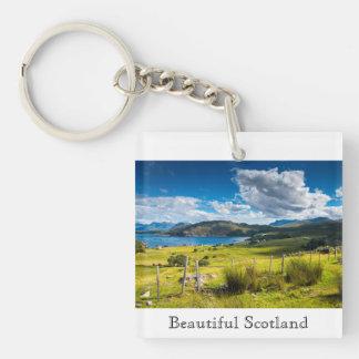 Scenic Landscape in Scotland Keychain