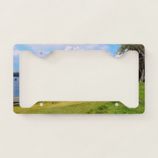Scenic Landscape, Sky, Clouds, Grass and Water License Plate Frame