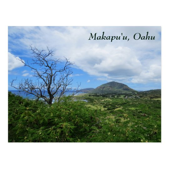 Scenic Makapuʻu Oahu Hawaii Mountains Ocean View Postcard