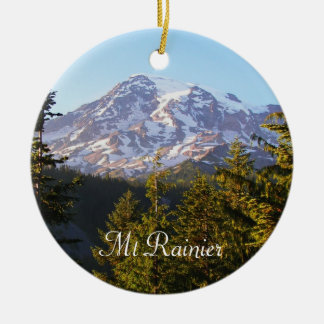 Scenic Mount Rainier Photo Ceramic Ornament