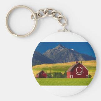 Scenic Mountain Landscape Keychain