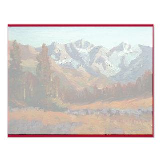 "Scenic Mountain Wedding Invitation Set 4.25"" X 5.5"" Invitation Card"