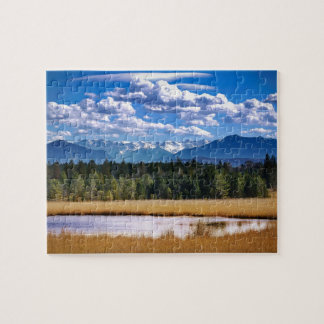 Scenic Mountains Alpine Landscape Jigsaw Puzzle