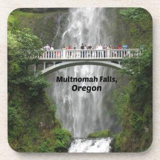 Scenic Multnomah Falls in Oregon Coasters