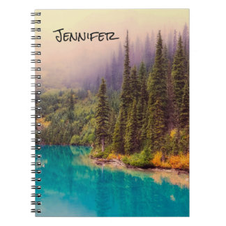 Scenic Northern Landscape Rustic Personalized Notebook