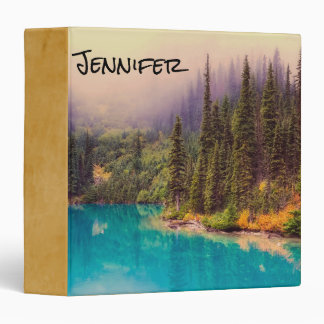 Scenic Northern Landscape Rustic Personalized Vinyl Binder