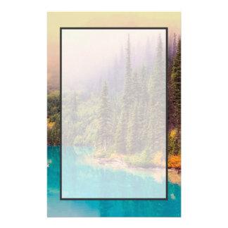 Scenic Northern Landscape Rustic Stationery