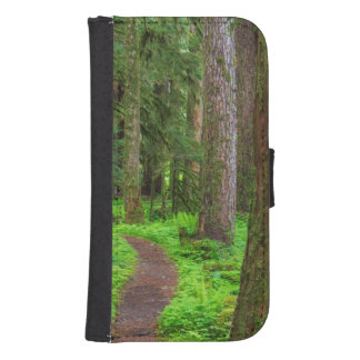 Scenic of old growth forest phone wallet cases