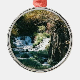 SCENIC PHOTOGRAPHS Silver-Colored ROUND ORNAMENT