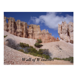 Scenic Postcard - Bryce Canyon Wall of Windows